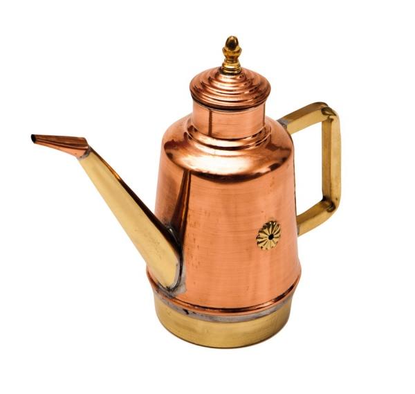 Oliera / Olivenölkanne 1,40 Liter Kupfer