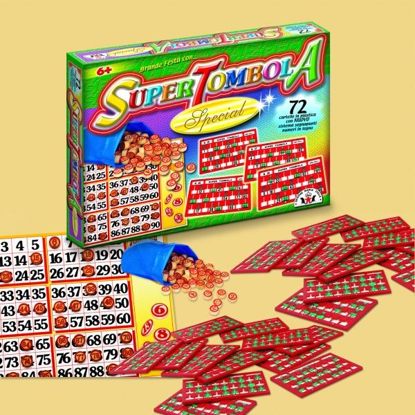 Bingo / Tombola SUPER SPECIAL 72 Karten aus Italien für Weihnachten / Silvester