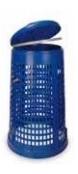 Müllsackständer 110 - 120 lt mit Deckel Mülleimer Abfalleimer Blau komplett