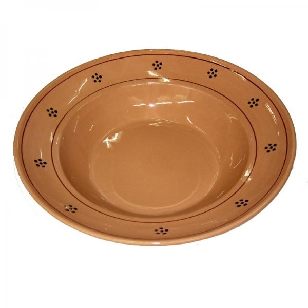 Tiefer Teller / Bohle aus Terracotta 36 cm