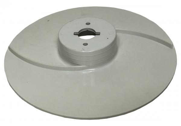 Käseauswurfscheibe/ Auswurfscheibe Käsemaschine Flach - Weiß