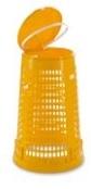 Müllsackständer 110 - 120 lt mit Deckel Mülleimer Abfalleimer Gelb komplett