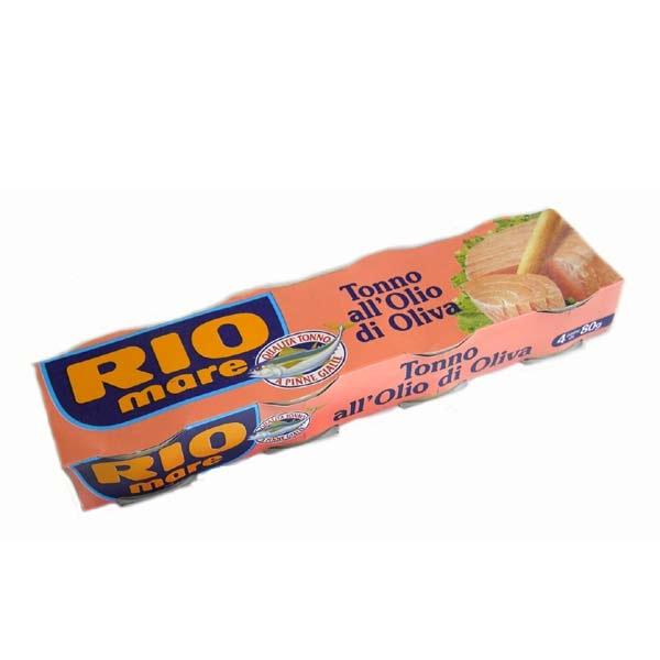 Rio Mare Tonno Thunfisch in Olivenöl 4 x 80 g