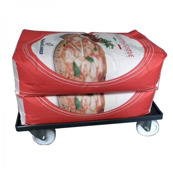 Wagen für Box-Service 60x40cm Pizzateigbehälter oder Mehl