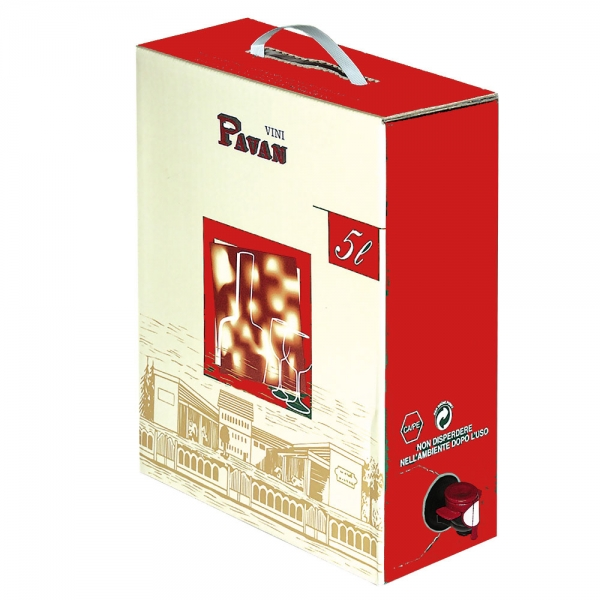Pavan - Merlot Rosso IGP 5 liter - 12%alk.Vol - BAG IN BOX