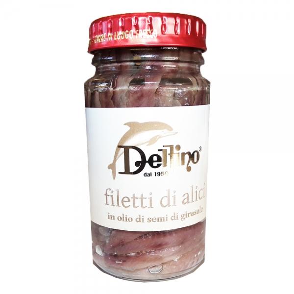 Sardellenfilets Filetti di alici - Delfino 130g