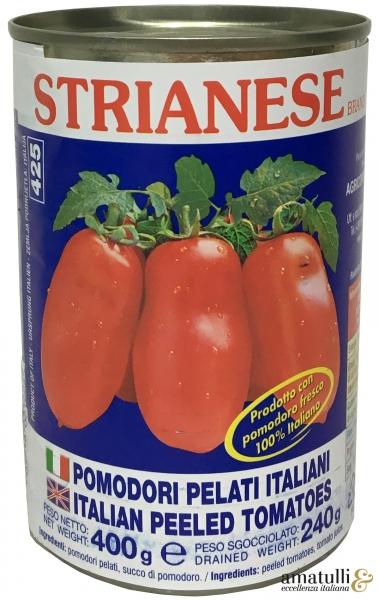 Geschälte Tomaten Strianese Pomodori pelati 400/260g
