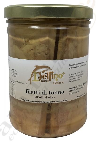 Thunfischfillet Filetti di Tonno - Delfino 790g