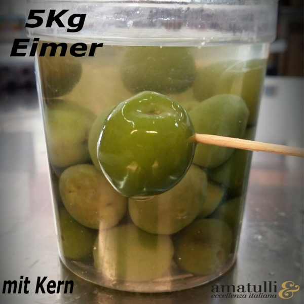 Olive verdi Nocellara - grüne Oliven 5kg Eimer