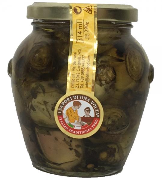 Carciofi in Olivenöl gegrillte Artischocken 314 g / Glas Antipasti