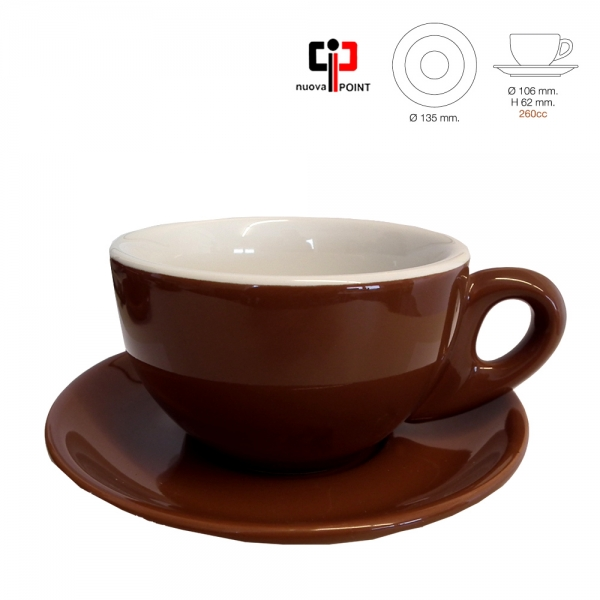 "Nuova Point Lattetasse ""Palermo"" marrone - 6er Karton"