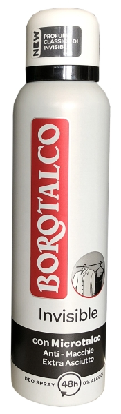 Roberts Borotalco Deo Spray Invisible 150ml