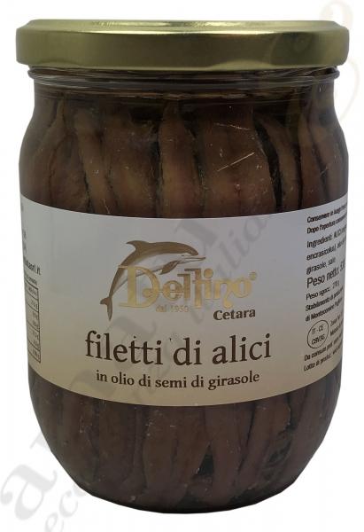 Sardellenfilets Filetti di alici - Delfino 530g