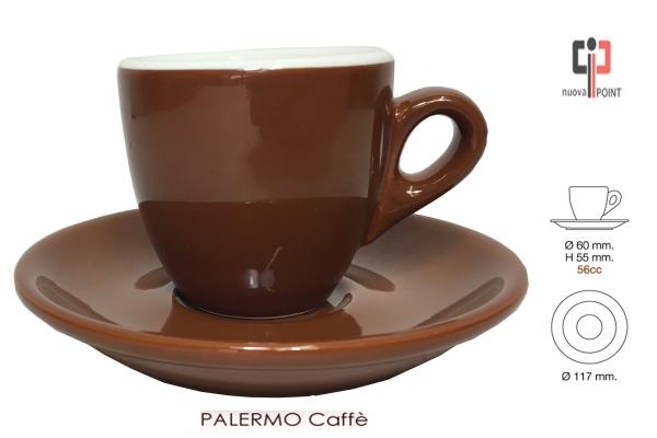 Nuova Point Palermo Espresso / Caffe braun 6er-Set