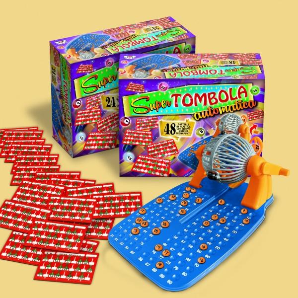 Bingo / Tombola Automatica 48 Karten Lotto aus Italien für Weihnachten / Silvester