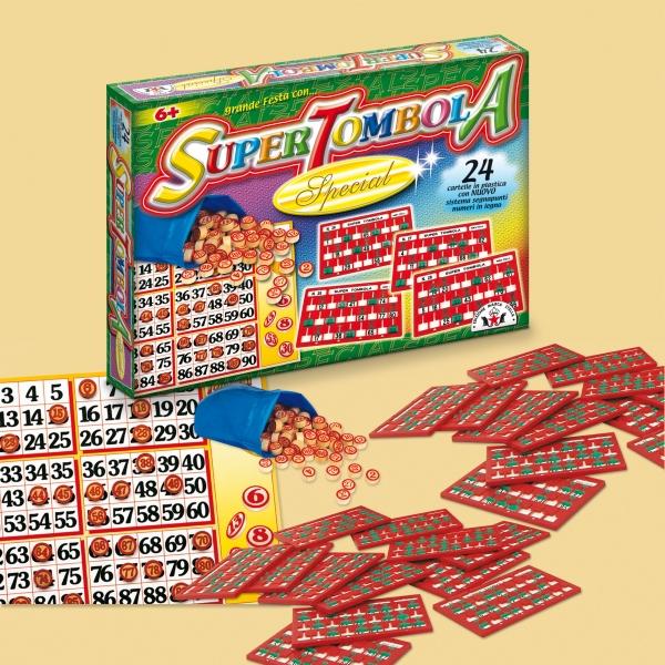 Bingo / Tombola SUPER SPECIAL 24 Karten aus Italien für Weihnachten / Silvester