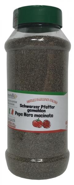 Pepe Nero macinato - Schwarzer Pfeffer gemahlen - 480g Dosierer