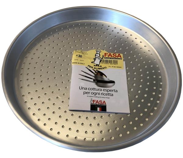 Forma Pizza Forata - 30 x 3cm - Pizzablech Rundblech Aluminium 99,5%