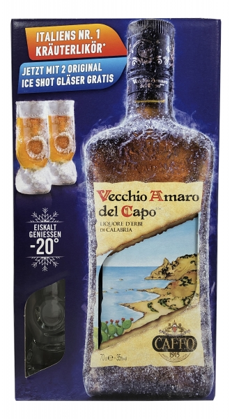 Vecchio Amaro del Capo 700ml in Geschenkbox - Caffo