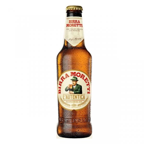 24 Flaschen Birra Moretti -italienisches Bier 33cl-