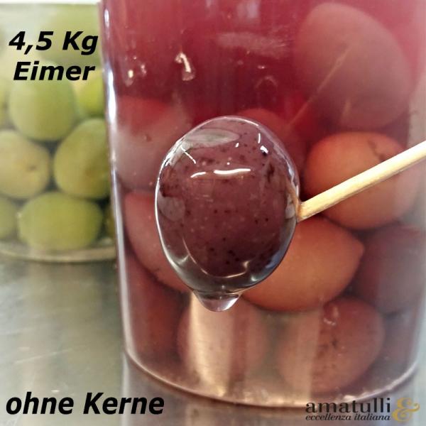 Olive Nere denocciolate - schwarze Oliven ohne Kern 4,5 kg Eimer