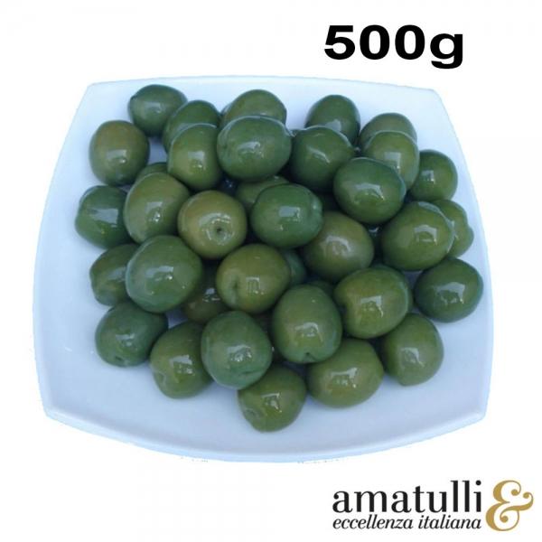 Olive Verdi Nocellara - grüne Oliven 500g Beutel