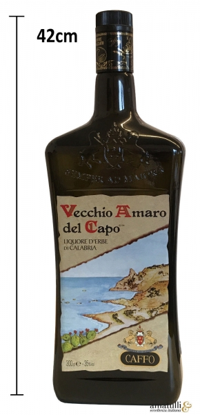 Vecchio Amaro del Capo Käuterlikör - Caffo 3 Liter Deko Flasche