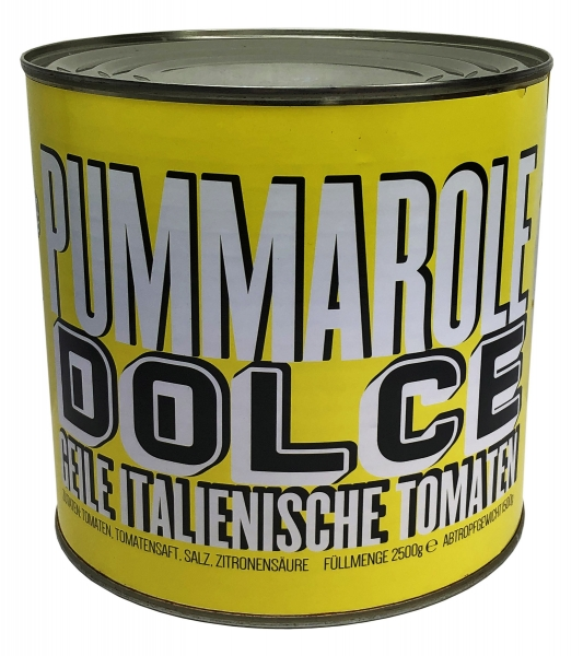 """geschälte Tomaten - Pummarole """"giallo datterino"""" - 2500g Pomodori Pelati"""