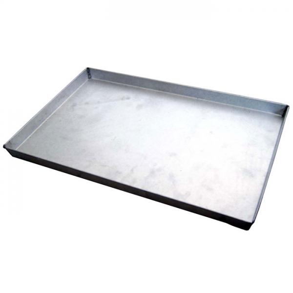 Backblech Rechteckig 60 x 40 x 3 cm Schwarz
