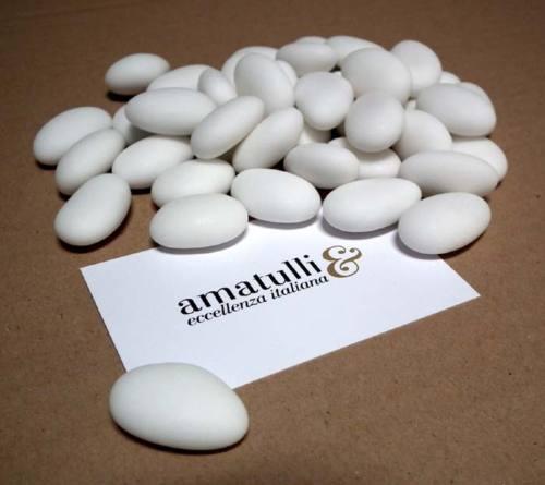 Hochzeitsmandeln Confetti Mandeldragees 1 Kg weiß