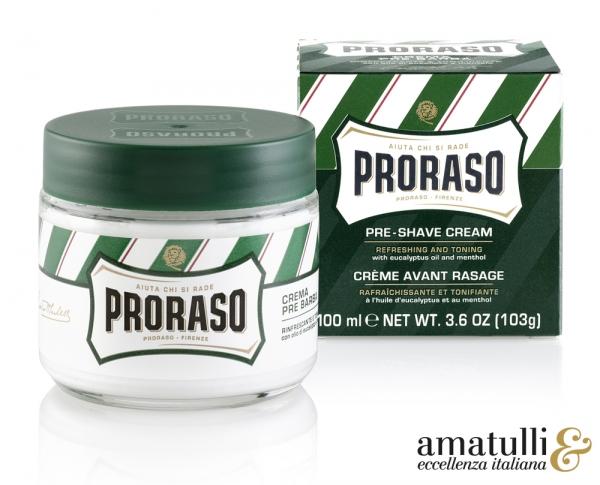 """PRORASO Rasiercreme für Vor-der-Rasur - """"Pre-Shave"""" 100 ml"""