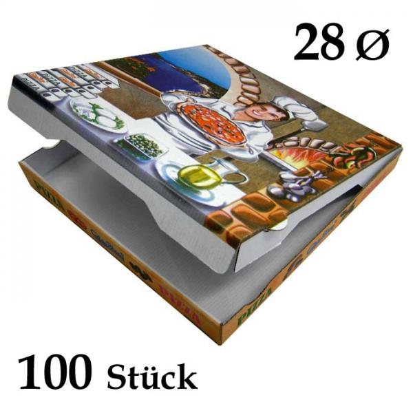 Pizzakarton 28 x 28 x 4cm - Ischia