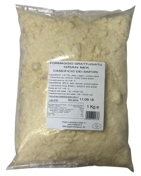 Hartkäse gerieben / Grattugiato - GranMix - 1 kg
