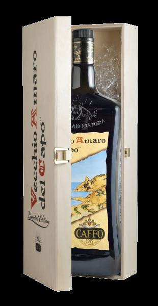 Vecchio Amaro del Capo Käuterlikör - Caffo 3000ml mit Holzkiste