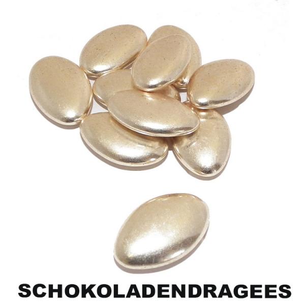 Schokoladendragees als Hochzeitsmandeln 1 KG Gold